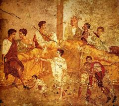672px-Pompeii_family_feast_painting_Naples